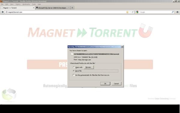 how to direct download torrent file